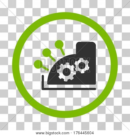Cash Register icon. Vector illustration style is flat iconic bicolor symbol eco green and gray colors transparent background. Designed for web and software interfaces.