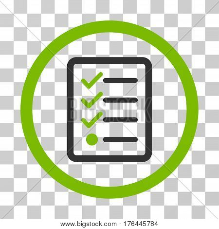Checklist icon. Vector illustration style is flat iconic bicolor symbol eco green and gray colors transparent background. Designed for web and software interfaces.