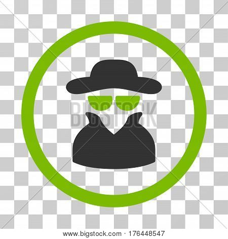 Spy icon. Vector illustration style is flat iconic bicolor symbol eco green and gray colors transparent background. Designed for web and software interfaces.
