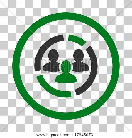Demography Diagram icon. Vector illustration style is flat iconic bicolor symbol green and gray colors transparent background. Designed for web and software interfaces.