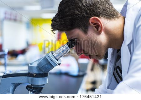 Scientific development process in a lab. Study of drug development. Development of a new medicines. Drug's Development. Doctor developing new drugs. Healthy medicine development.