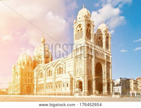 Cathedral de la Major - one of the main church and local landmark in Marseille France