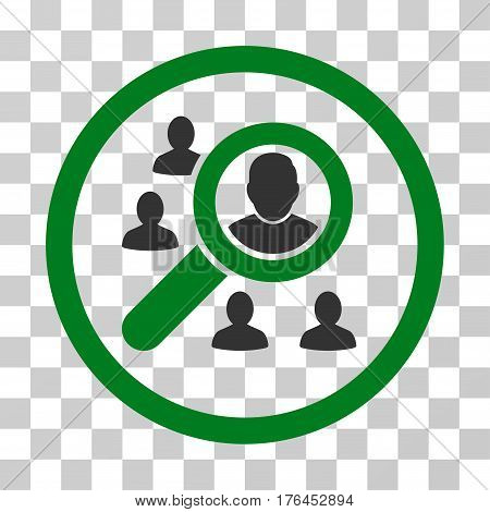 Search People icon. Vector illustration style is flat iconic bicolor symbol green and gray colors transparent background. Designed for web and software interfaces.