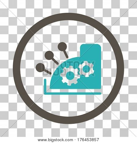 Cash Register icon. Vector illustration style is flat iconic bicolor symbol grey and cyan colors transparent background. Designed for web and software interfaces.