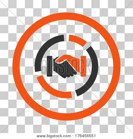 Acquisition Diagram icon. Vector illustration style is flat iconic bicolor symbol orange and gray colors transparent background. Designed for web and software interfaces.