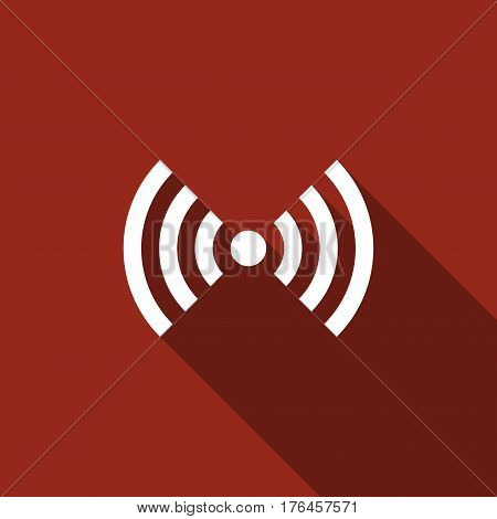 Wi-Fi network symbol flat icon with long shadow. Vector Illustration