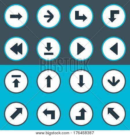 Vector Illustration Set Of Simple Cursor Icons. Elements Right Direction, Reduction, Rearward And Other Synonyms Rearward, Reduction And Download.