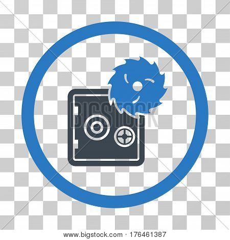 Break Safe icon. Vector illustration style is flat iconic bicolor symbol smooth blue colors transparent background. Designed for web and software interfaces.