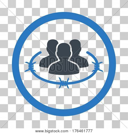 Concentration Camp icon. Vector illustration style is flat iconic bicolor symbol smooth blue colors transparent background. Designed for web and software interfaces.