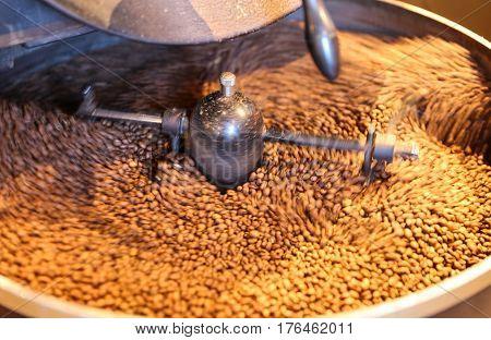 Green Coffee Beans Roasting
