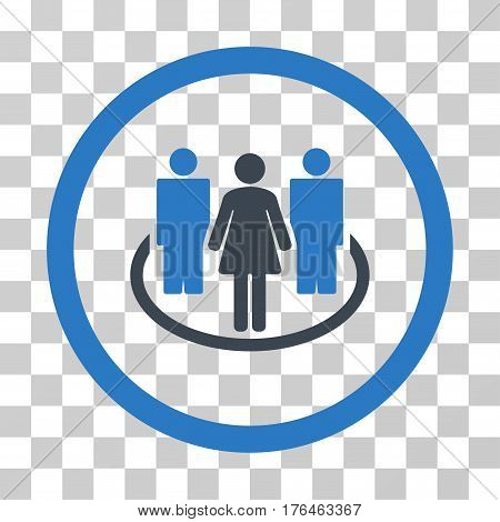 Society icon. Vector illustration style is flat iconic bicolor symbol smooth blue colors transparent background. Designed for web and software interfaces.