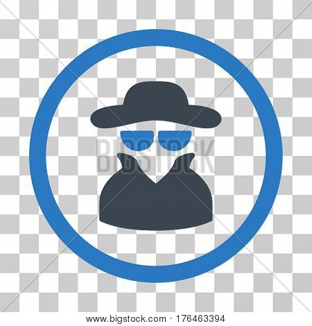 Spy icon. Vector illustration style is flat iconic bicolor symbol smooth blue colors transparent background. Designed for web and software interfaces.