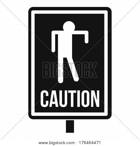 Zombie road sign icon. Simple illustration of zombie road sign vector icon for web