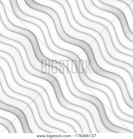 Raster Seamless Greyscale Texture. Gradient Wavy Lines Pattern. Subtle Blurry Abstract Background