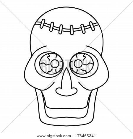 Trepanation skull of zombie icon. Outline illustration of trepanation skull of zombie vector icon for web