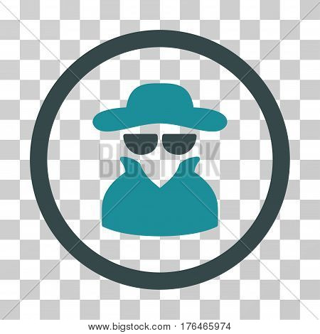 Spy icon. Vector illustration style is flat iconic bicolor symbol soft blue colors transparent background. Designed for web and software interfaces.