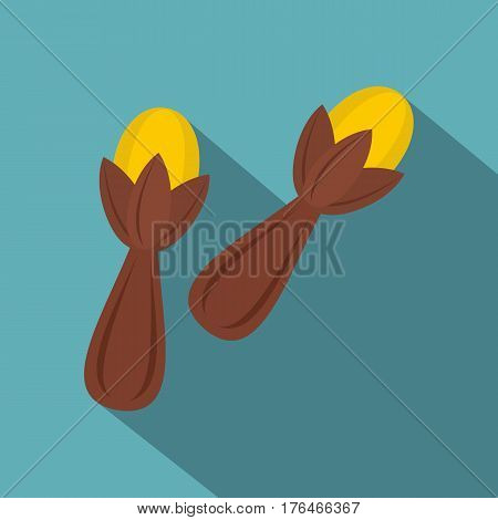 Seeds of a carnation icon. Flat illustration of seeds of a carnation vector icon for web isolated on baby blue background