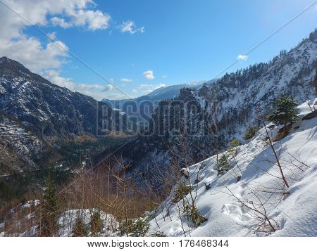 Beautiful Winter Landscape Of Totes Gebirge Mountains