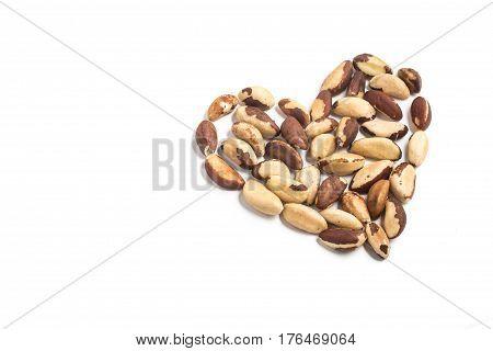 Brazilian Nuts. Castanha Do Para. Heart Shaped
