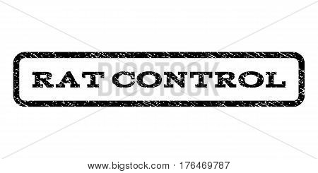 Rat Control watermark stamp. Text tag inside rounded rectangle frame with grunge design style. Rubber seal stamp with dust texture. Vector black ink imprint on a white background.