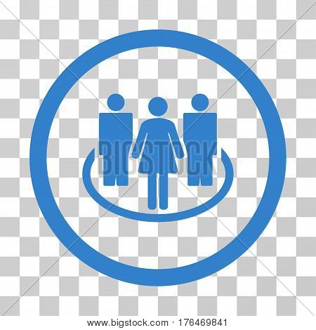 Society icon. Vector illustration style is flat iconic symbol cobalt color transparent background. Designed for web and software interfaces.