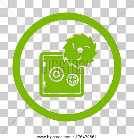 Break Safe icon. Vector illustration style is flat iconic symbol eco green color transparent background. Designed for web and software interfaces.
