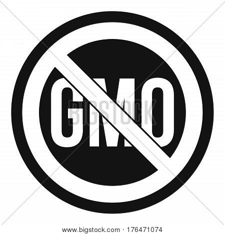 Stop GMO icon. Simple illustration of stop GMO vector icon for web