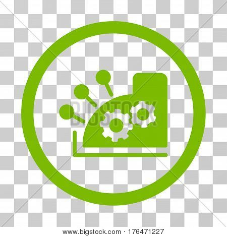 Cash Register icon. Vector illustration style is flat iconic symbol eco green color transparent background. Designed for web and software interfaces.