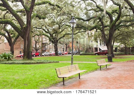 Chatham Square Historic District Savannah Ga Us