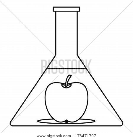 GMO food concept icon. Outline illustration of GMO food concept vector icon for web