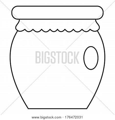 Honey jar pot icon. Outline illustration of honey jar pot vector icon for web