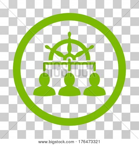 Management Steering Wheel icon. Vector illustration style is flat iconic symbol eco green color transparent background. Designed for web and software interfaces.