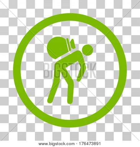Porter icon. Vector illustration style is flat iconic symbol eco green color transparent background. Designed for web and software interfaces.