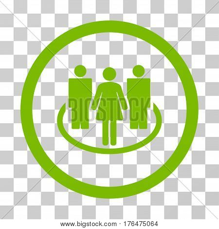 Society icon. Vector illustration style is flat iconic symbol eco green color transparent background. Designed for web and software interfaces.