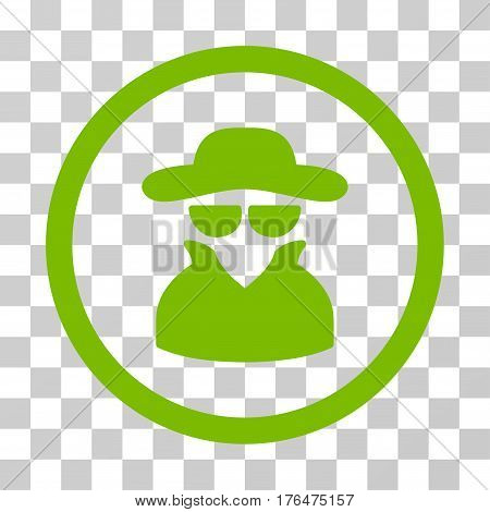 Spy icon. Vector illustration style is flat iconic symbol eco green color transparent background. Designed for web and software interfaces.