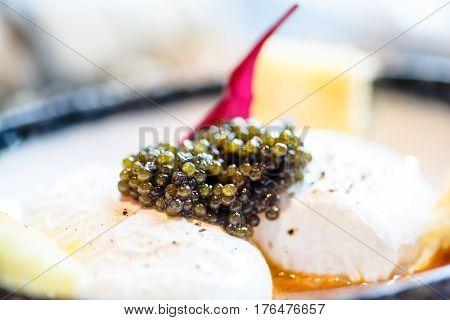 Sturgeon Caviar (beluga) Close Up, Macro.