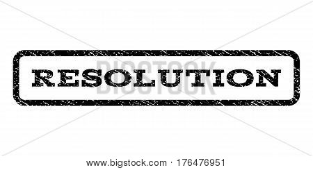 Resolution watermark stamp. Text caption inside rounded rectangle frame with grunge design style. Rubber seal stamp with unclean texture. Vector black ink imprint on a white background.