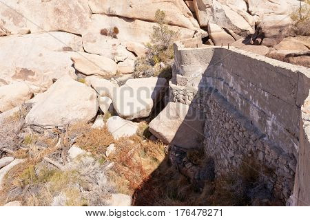 Barker Dam In Joshua Tree National Park Ca Usa