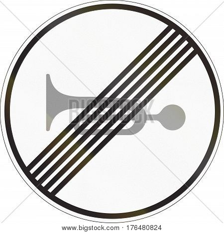 Road Sign Used In Malta - End Of No Honking