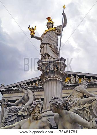 Austria, Vienna - May 8, 2012. Visiting The Vienna City Hall, Detail.