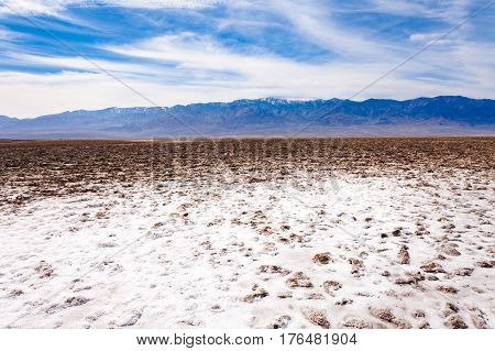 Badwater Basin Panamint Range Death Valley Np Us