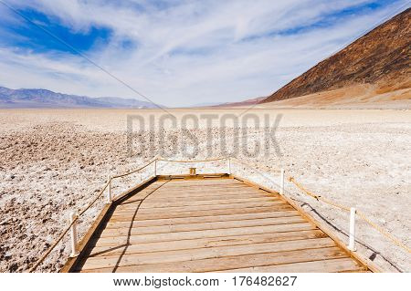 Badwater Basin Boardwalk Death Valley Np Ca Usa