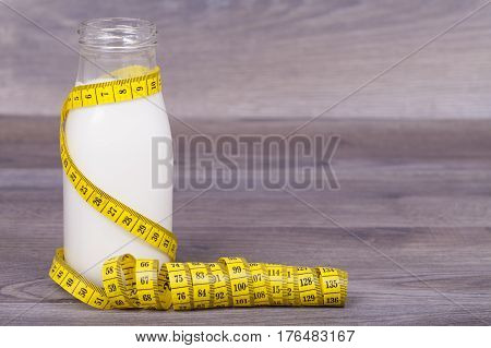 Fitness Concept  On A Wooden Background