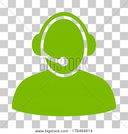 Call Center icon. Vector illustration style is flat iconic symbol eco green color transparent background. Designed for web and software interfaces.