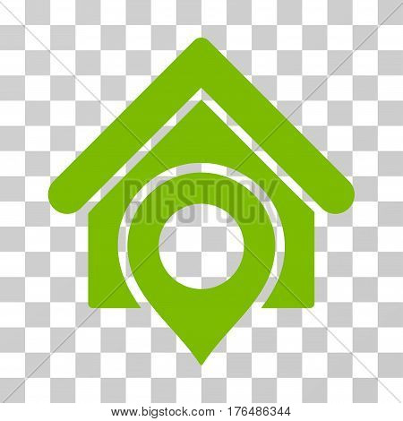 Realty Location icon. Vector illustration style is flat iconic symbol eco green color transparent background. Designed for web and software interfaces.