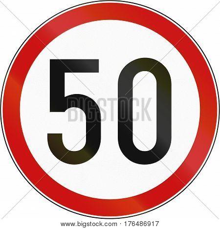 Croatian Regulatory Road Sign - Maximum Speed Limit