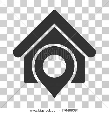 Realty Location icon. Vector illustration style is flat iconic symbol, gray color, transparent background. Designed for web and software interfaces.