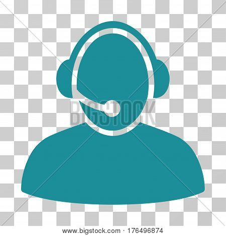 Call Center icon. Vector illustration style is flat iconic symbol, soft blue color, transparent background. Designed for web and software interfaces.