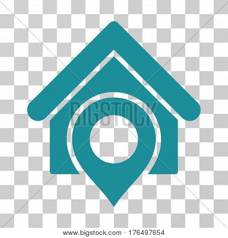 Realty Location icon. Vector illustration style is flat iconic symbol, soft blue color, transparent background. Designed for web and software interfaces.