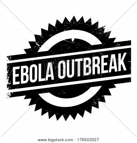 Ebola Outbreak stamp. Grunge design with dust scratches. Effects can be easily removed for a clean, crisp look. Color is easily changed.